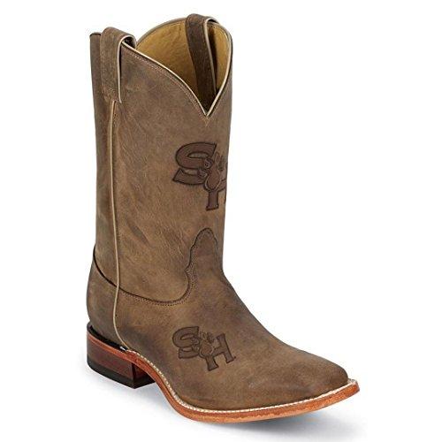 Nocona Mens MDSHSU12 Sam Houston State University Collegiate Laser Boots-Brown 11.5 D
