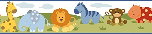 Chesapeake BBC94181B Simba Jungle Safari Cartoons Wallpaper Border, - Wallpaper Safari Border