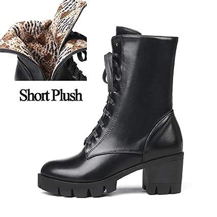 68d3b00864e00 Amazon.com: 2018 Women Ankle Martin Lace Up Boots Winter Top Side ...