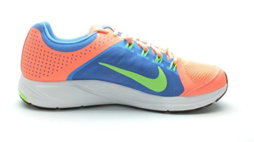 Kvinna Nike Zoom Elite + 6 Löparskor. Storlek 11,5. Atom Rosa / Flash Lime Blå-vit