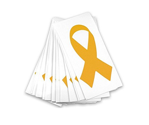 Childhood Cancer Awareness Gold Ribbon Decals (25 pack)