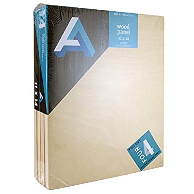 Art Alternatives Wood Panel Super Value 11x14 Pack of 4
