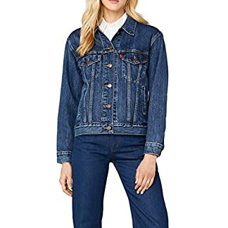 Levi's Damen Jeansjacke EX-Boyfriend Trucker, Blau/Stoop Culture 0022, Small 4