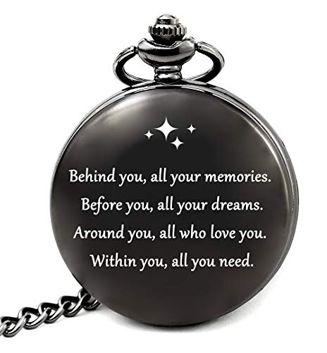 Graduation Decorations 2019, Graduation Gifts for Him College or High School, Graduation Party Supplies, Engraved Pocket Watch (All Your Dreams)