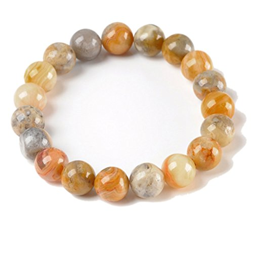 Bracelet Crystal Family - JOVIVI Semi-Precious Gemstones Healing Power Crystal Elastic Stretch Beaded Bracelet, 10mm