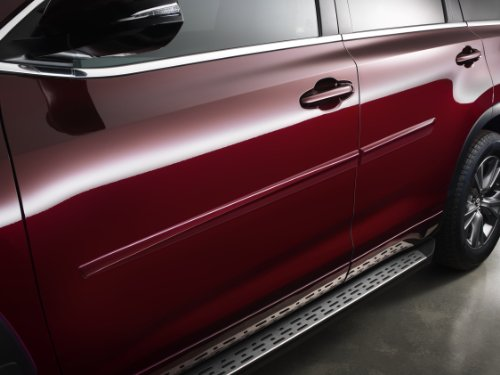 Genuine Toyota Body Side Moldings for the 2014 Toyota Highlander-New, OEM COLOR: Blizzard Pearl ()