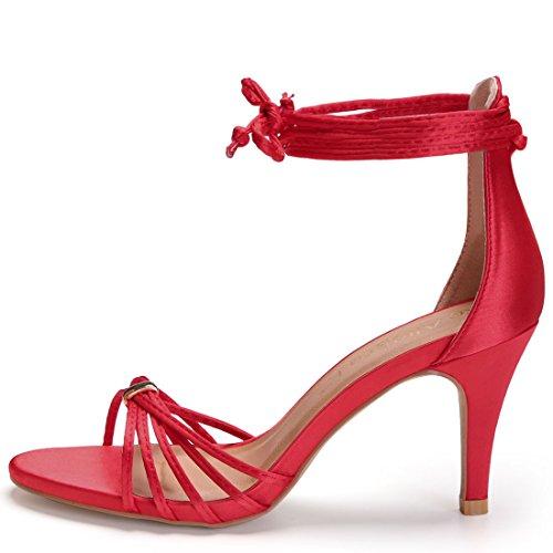 K Tacco Allegra Rosso 8 Stiletto Stringato Sandali Alto Aperta Punta US Donne d1UwqHXUxF