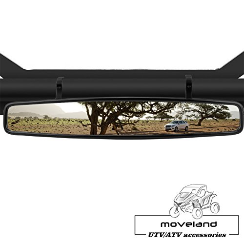 15'' Wide Angle UTV Rear View Race Mirror with Anti-Scratch Shatterproof Glass, Moveland Convex Mirror with 1.75-inch Clamp for Polaris RZR 800 1000 S 900 XP 1000 and More by moveland (Image #4)