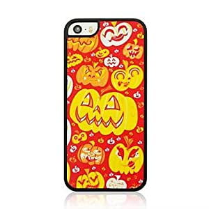 QHY Happy Pumpkin Pattern Plastic Hard Case for iPhone 5/5S