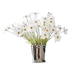 Crt Gucy 6 Pcs Artificial Galsang Flowers Simulation Flower Bouquet For Home Hotel Office Wedding Party Garden Craft, White 100