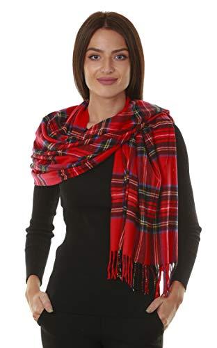 (GILBIN'S Big Winter Warm Tartan Checked Cashmere Feel Shawl Blanket Scarf 80