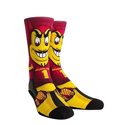NCAA Super Premium College Fan Socks (L/XL, Arizona State Sun Devils - Mascot Sparky)