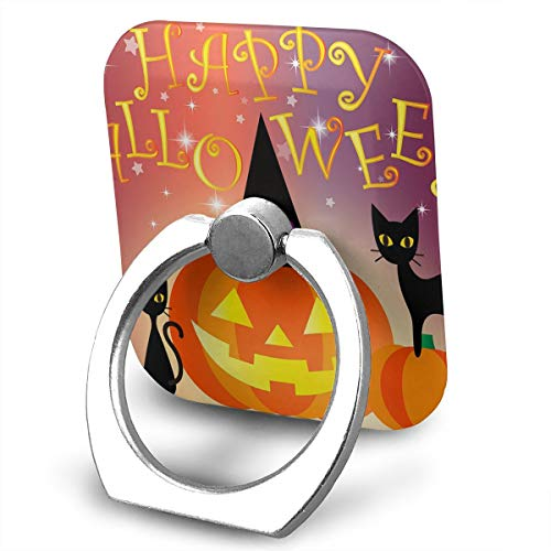 Phone Ring Finger Holder, Square Happy Halloween Day Printed Universal Smartphone Holder Stand, Cell Phone Ring Finger Holder Grip Almost All -
