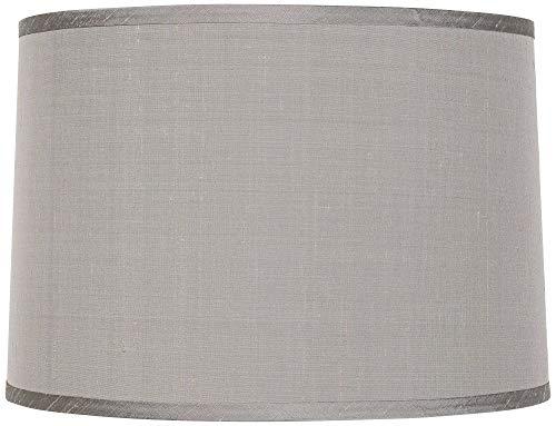 (Platinum Gray Dupioni Lamp Shade 15x16x11 (Spider) - Brentwood)