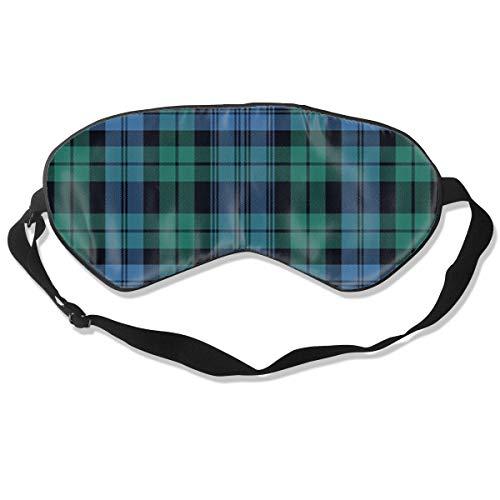 Black Watch Tartan, Ancient 100% Silk Sleep Eye Mask,Comfortable Sleeping Eye Mask,Adjustable 3D Contoured Eye Masks for Sleeping