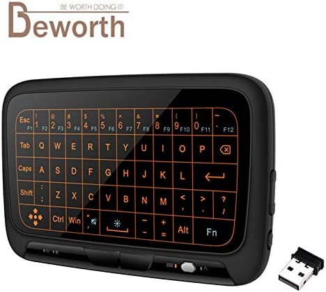 Color: H18 No Baclight Calvas H18 2.4GHz Wireless Mini Keyboard Full Touchpad Backlight Keyboard Large Touch Pad Remote Control for Smart TV Android TV Box