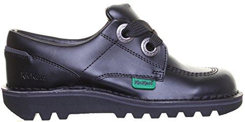 Kickers Kopey Lo - Botas de Piel para mujer Negro - negro/gris