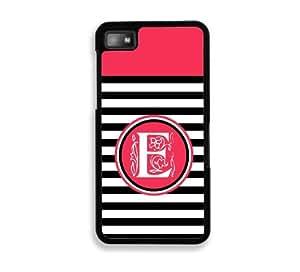 Black Stripes E Monogram Blackberry Z10 Case - For Blackberry Z10