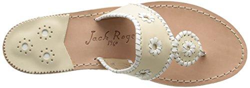 JACK ROGERS PALM BEACH - Sandalias para mujer Bone/White