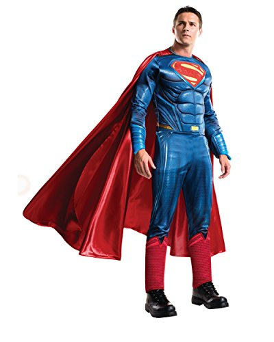 Rubie's Men's Batman v Superman: Dawn of Justice Grand Heritage Superman Costume, Multi, One Size by Rubie's