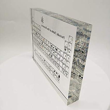Acryl Periodensystem Mit Realen Proben FLYTYSD Upgrade-Version Heritage Periodensystem Der Elemente Lehrer Studenten Geschenke Crafts Dekor,150X114X20MM