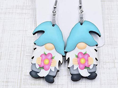 Flower Gnome Earrings