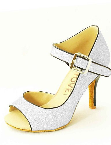 Red Customizable Black Salsa Black Shoes Gold Women's Latin Blue Silver Leatherette Customized Heel ShangYi Dance CqdPxwPZ