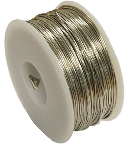 STL Group Inc 12 AWG Bare Tinned Copper Wire, Bus Wire 1/2 Lb Spool 25 Ft.