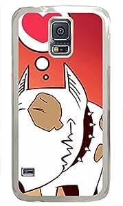 galaxy s5 case,custom samsung galaxy s5 case,TPU Material,Drop Protection,Shock Absorbent,Transparent case,cute cartoon pattern Sad puppy