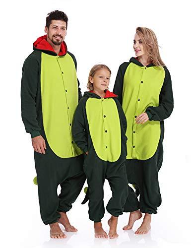 Dinosaur Onesie Adult Pajamas Unisex Kigurumi Halloween Xmas Costume for Women Men
