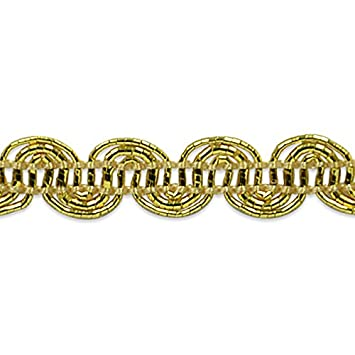 Expo International Pia Metallic Scroll Braid Trim Embellishment, 20-Yard, Gold IR6972GL-20