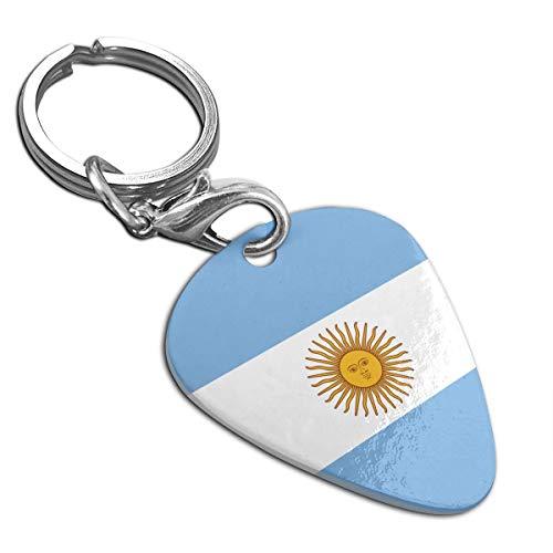 Flag Of Argentina Custom Guitar Pick Pendant Necklace Keychain