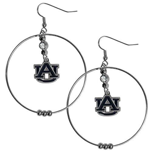 Siskiyou NCAA Auburn Tigers 2 inch Hoop Earrings