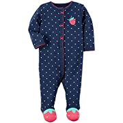 Carter's Baby Girls' Interlock 115g215, Navy, 3M