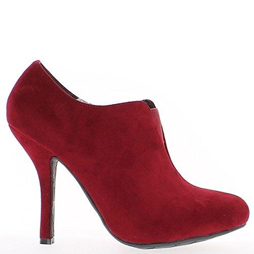 Botas rojas bajo pintan con tacón de 10cm