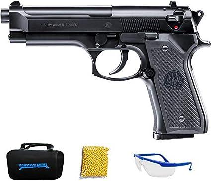 BERETTA M9 WORD DEFENDER. Pistola de Airsoft Calibre 6mm (Arma Aire Suave de Bolas de plástico o PVC). Sistema: Muelle. <3,5J
