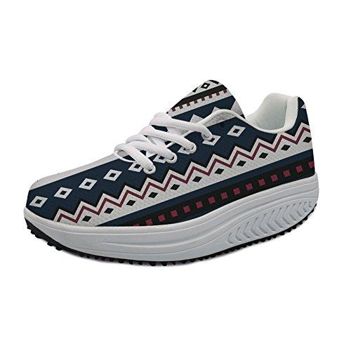Sneakers Platform Stylish 2 Fashion Girls Casual Stripe Pattern Printed Women's Lightweight nqU8fT
