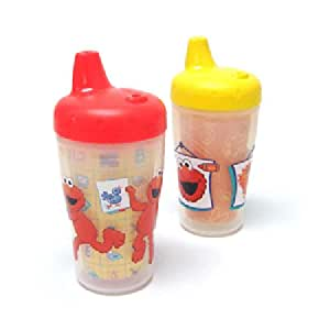 The First Years 2 Pack 9 Ounce Insulated Sippy Cup , Sesame Street (Discontinued by Manufacturer)