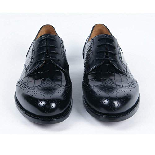 Tacco Black Femminile Forma di Moda Scarpe da su Testa Rotonda Uomo Misura Business Scarpe Goodyear con A in Pelle xTUSwRnqAv