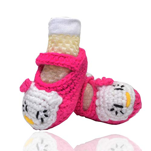 Handmade Baby Booties with Socks Knitting Crochet Shoes for Pre Walker 6-12 Months