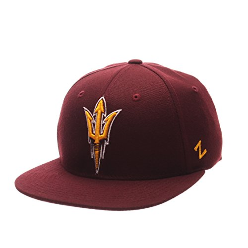 Cap Arizona Devils Sun State (NCAA Arizona State Sun Devils Men's M15 Fitted Hat, Maroon, Size 7 3/8)
