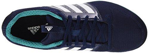 adidas Allroundstar J - Botas de fútbol para niños Multicolor (azul marino/blanco/verde)
