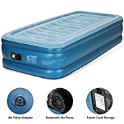 #AmazonGiveaways MARNUR Twin Air Mattress Inflatable Airbed Electric Air Mattress with Built-in Pump & Storage Bag at Home or Camping for Guests Home Office Travel Height 18'