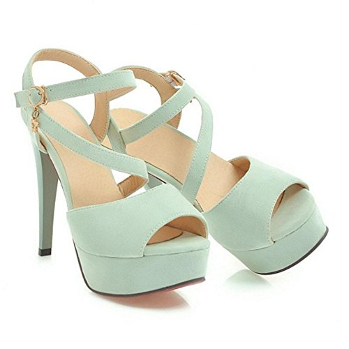 High Green Fashion Sandals TAOFFEN Heel Platform 2 Women wgEZ1qCR