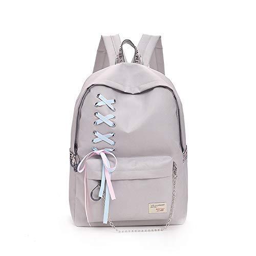 High ZHANGQIAN Backpack Grey Canvas School Bag Campus College Wind Kapok Junior Shoulder ppBwUqT