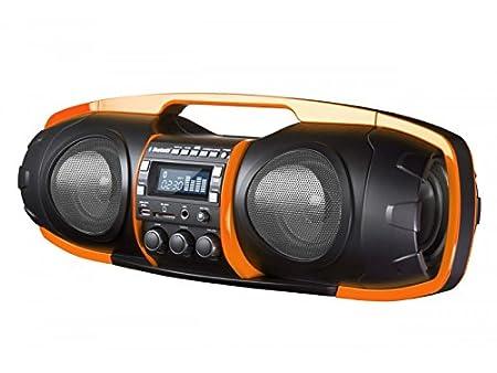 SDigital Nuke Stereo 16W Soundbar Black,Orange   Portable Speakers  2.0 Channels, Built In, 16 W, Wired  amp; Wireless, Bluetooth/3.5Mm/Usb, 2.1+Edr