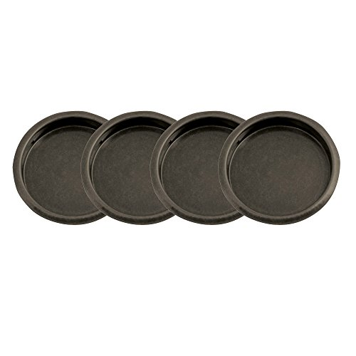 "Design House 182071 Closet Finger Pull 2-1/8"", 4-Pack, Oil Rubbed Bronze"