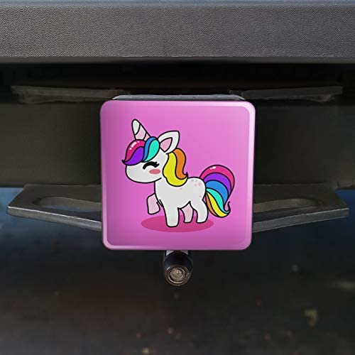 Graphics and More Cute Kawaii Unicorn Cow Tow Trailer Hitch Cover Plug Insert