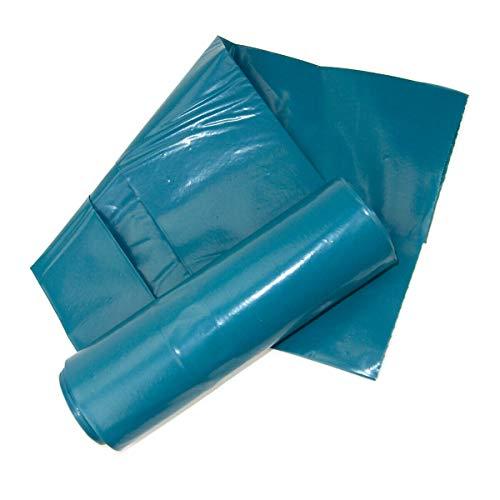 Müllsäcke Abfallbeutel Mülltüten Blau 120L 200 Stück