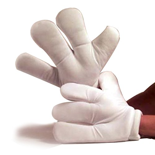 Halloween Cartoon Characters (Fun World Unisex-Adult's Cartoon Hands Costume Accessory, white,)